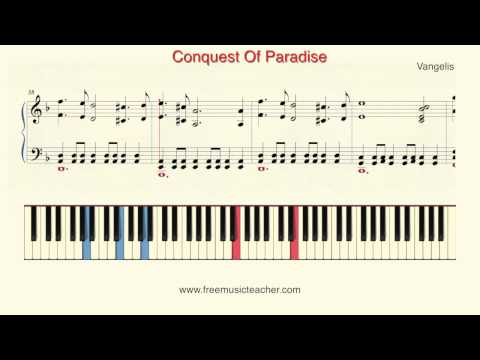 "How To Play Piano: Vangelis ""Conquest Of Paradise"" Piano Tutorial by Ramin Yousefi"
