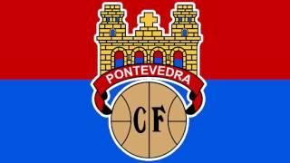 Bandera y Escudo del Pontevedra Club de de Fútbol - Pontevedra Capital (Pontevedra)