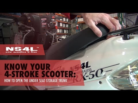 How to Open Your Under Seat Storage Trunk on Your Scooter