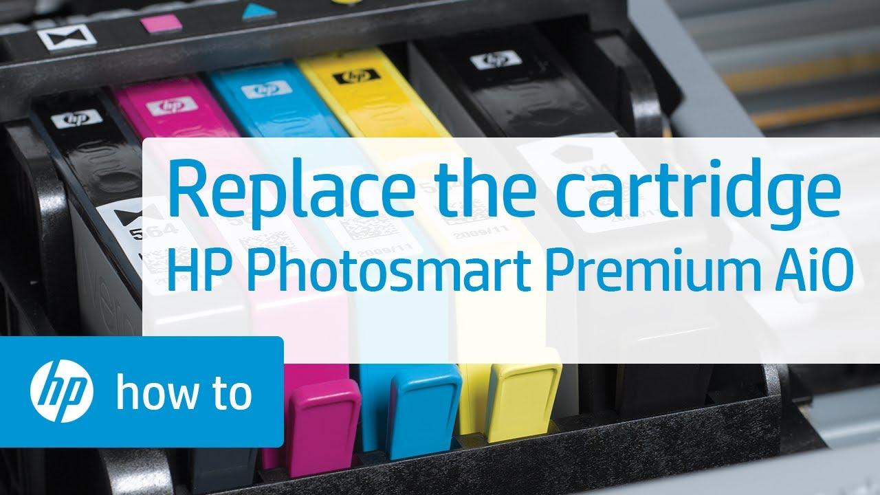 Replacing A Cartridge Hp Photosmart Premium All In One