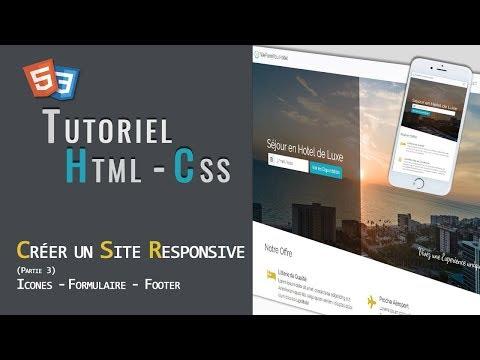 Html - Css | Créer Un Site One Page Responsive (Partie 3)