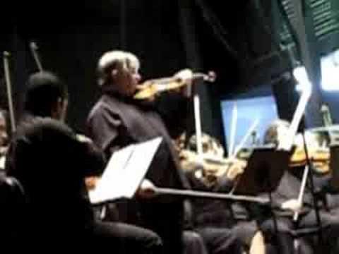 Maurice Hasson y la Orquesta Sinfónica de Lara:  violinconcerto de Brahms (3 Mov)
