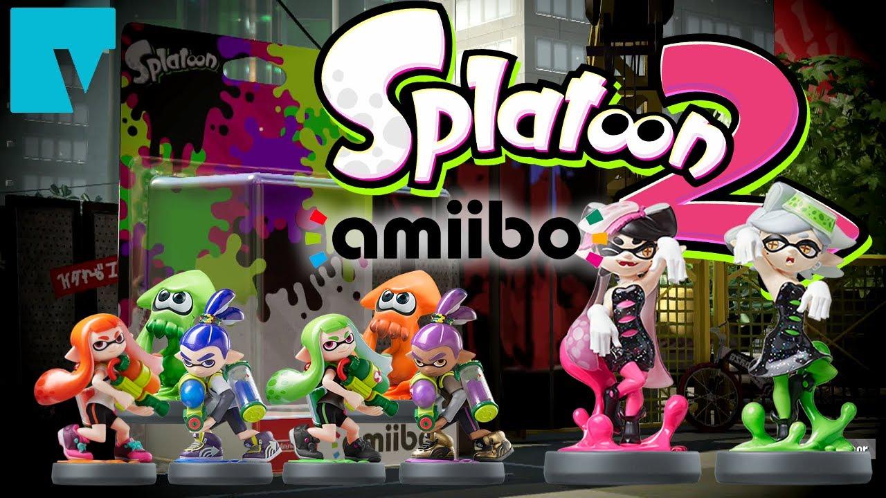 splatoon 2 amiibo functionality inkling girl boy squid and
