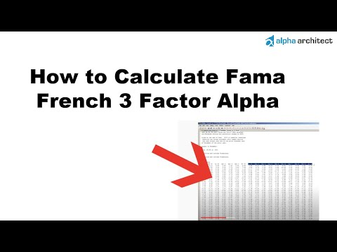 How to Calculate Fama French 3 Factor Alpha
