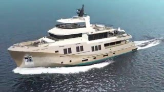 Bering 115 - Steel Expedition Yacht Rendering