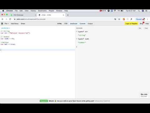 "Tutorial Javascript from Newbie To Master Part 1 ""Pengenalan Type Data"" thumbnail"