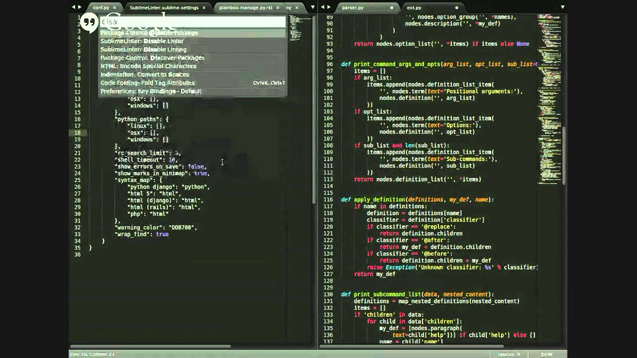Showing off my Sublime Text 3 + Python3