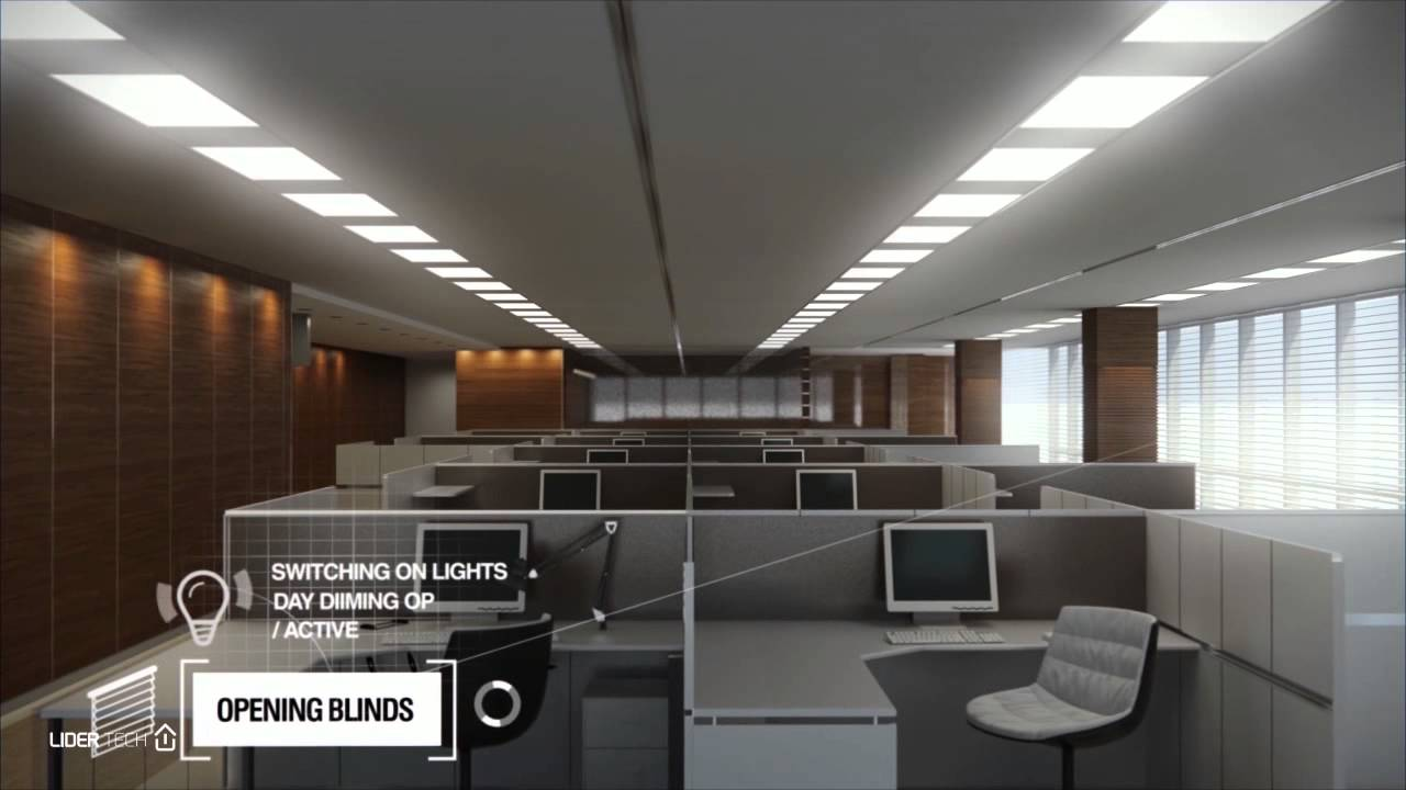 Smart Office by LiderTech - YouTube for Smart Office Lighting  195sfw