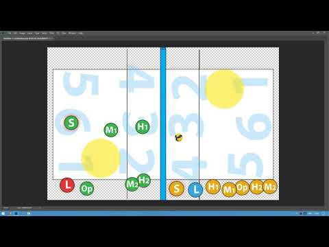 Волейбол. Расстановка 5-1. Схема 5-1. Перезалив. Новый формат, анимация. Volleyball 5-1 Rotation.