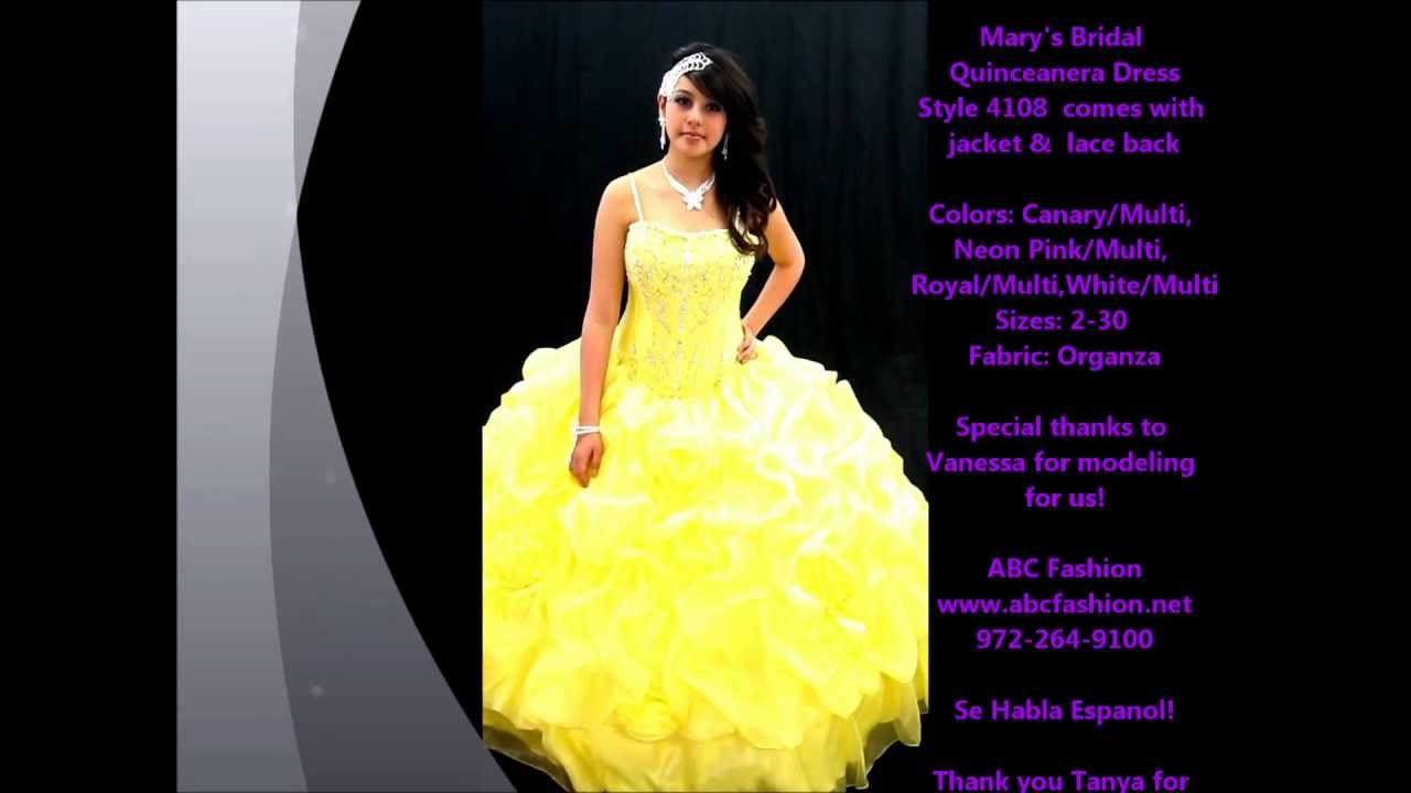 906539e7e 4108 Mary s Bridal Quinceanera Dresses in Yellow - YouTube