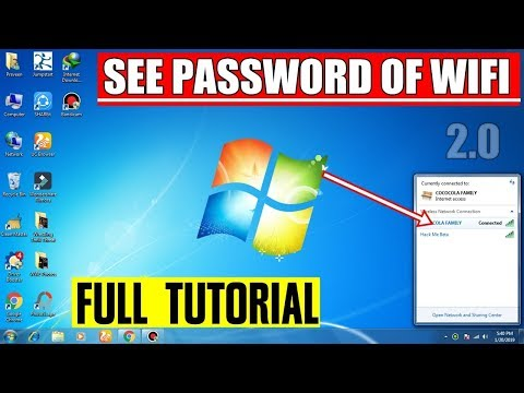 Finding Your WiFi Password From Within Windows 7 - How To See Password Of Wifi