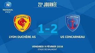 Lyon la Duchère vs Concarneau full match
