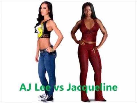 AJ Lee vs Jacqueline- Spinning Heel Kick