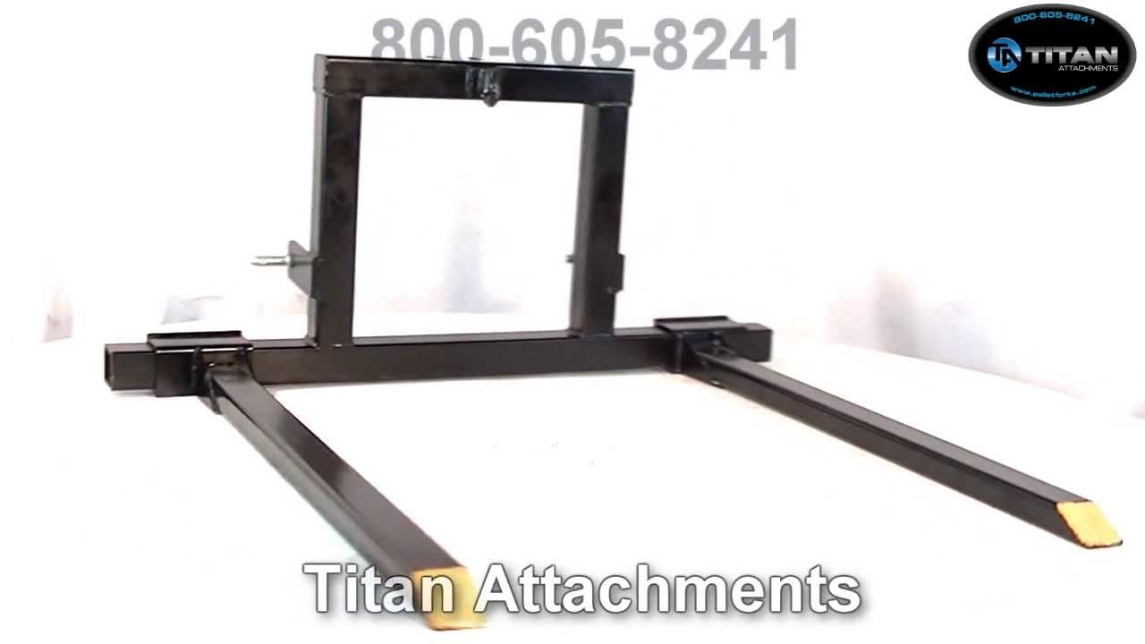 3 Point Forks : Titan point hitch pallet fork attachment category t