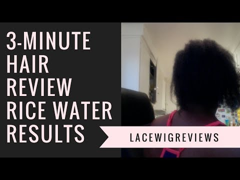 Rice Water For Hair Growth Results After 30 Days on Short Thin Hair