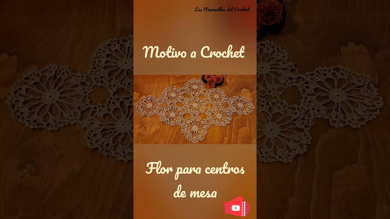 Motivo de flor a crochet para centros de mesa #Shorts #create #DIY #crochet