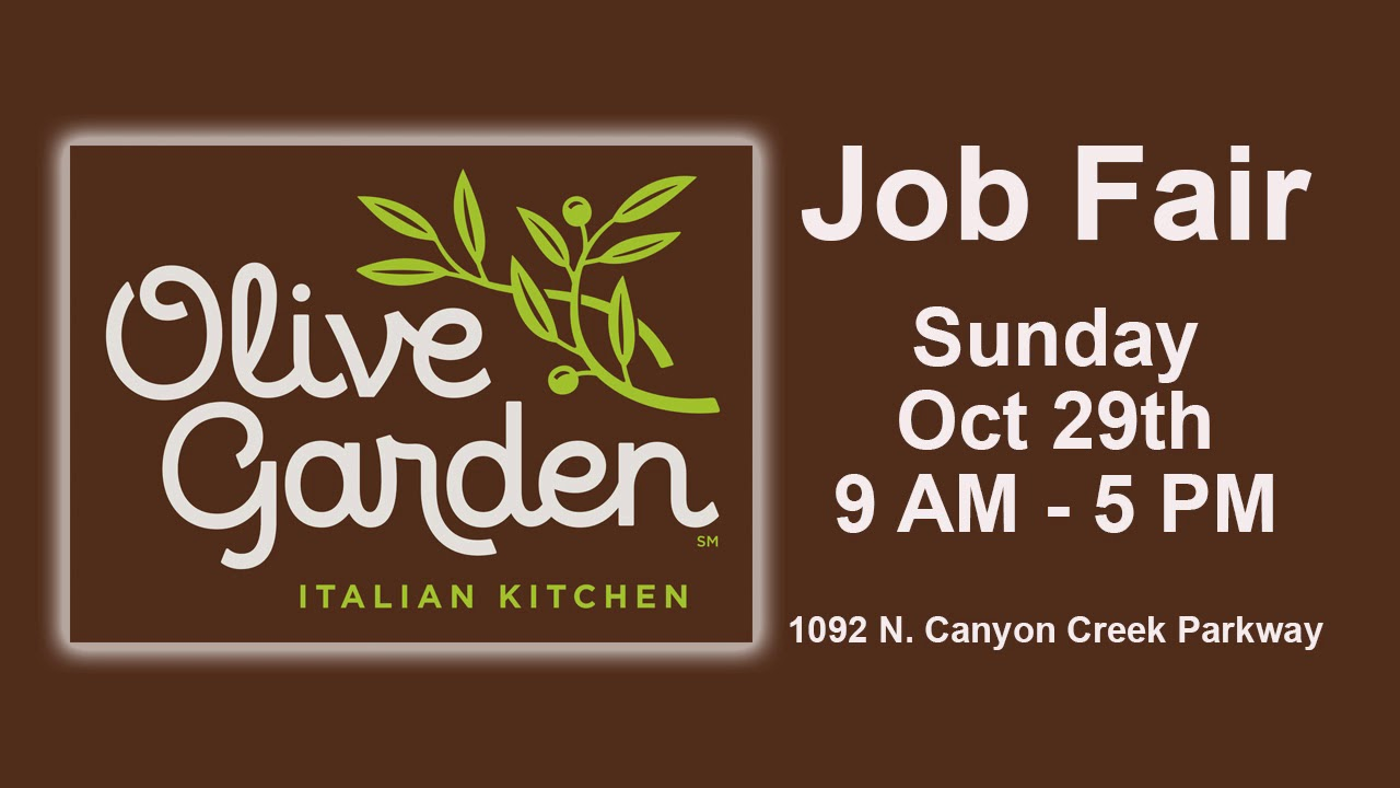 Olive Garden Job Fair | 10/28/17 - YouTube