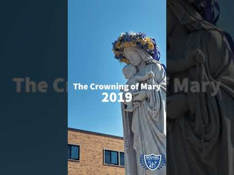 Nouvel Catholic Central High School Crowning of Mary 2019