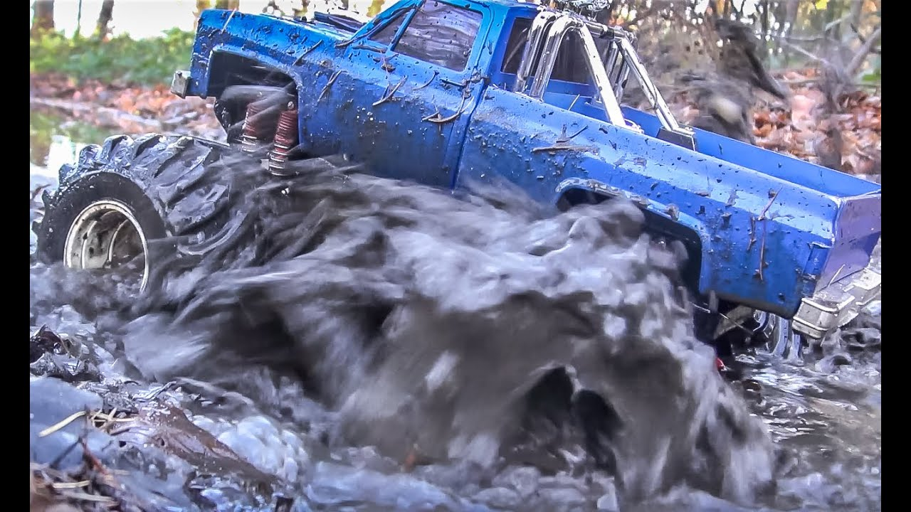 Monstertruck Goes Wild Rc Mud Water Splashing Action Youtube