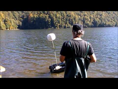 Extended range wireless fish finder working at 300 meters - demo