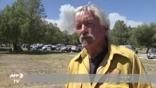 بالفيديو.. حريق كاليفورنيا يواصل تمدده المدمر