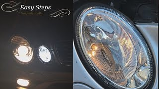 how to install led parking city lights on e350 mercedes w211   e550 led upgrade
