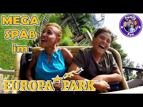 ACTION FUN EUROPA-PARK Mega Erlebnis Freizeitpark mit krassen Achterbahnen Attraktionen  FAMILY FUN