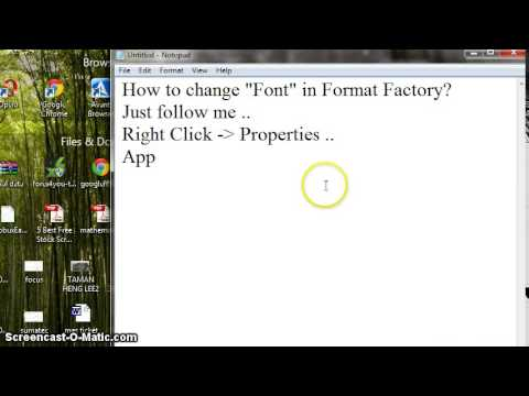 How to change font in format factory youtube how to change font in format factory ccuart Image collections