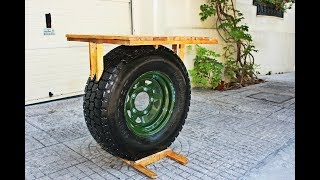 Making A Table Out of 4x4 Wheel