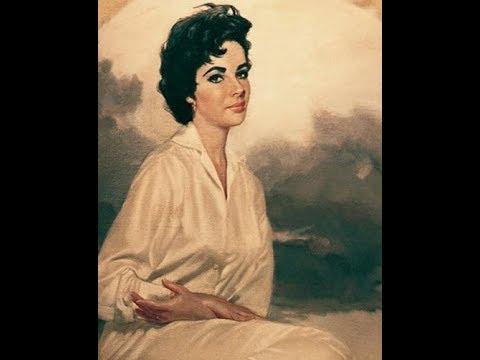 THE MUSEUM ARTIST, RALPH W. COWAN, PAINTS ELIZABETH TAYLOR, BY MARLON PALMER