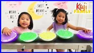 Emma and Kate play with Slime and more fun kids activities!