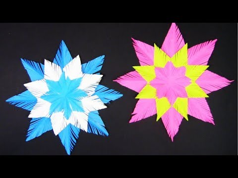 Paper snowflake easy tutorial for kids step by step - Snowflakes in 5 minutes