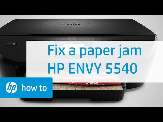 Fixing a Paper Jam on the HP ENVY 5540 Printer | HP ENVY | HP