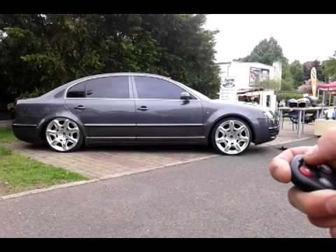 Skoda Superb Airride On Bentley Rims Youtube