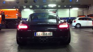 Porsche Cayman S Capristo Klappenauspuff