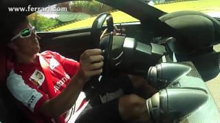 Alonso drives the LaFerrari