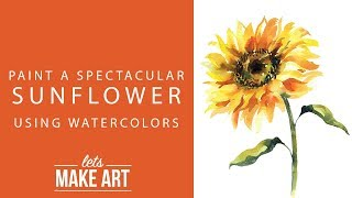 Learn to Paint a Spectacular Sunflower with Watercolors