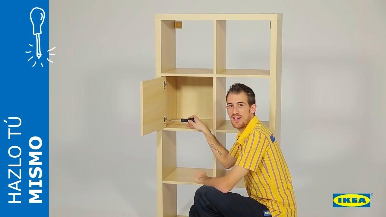 Instrucciones Montaje Ikea Puerta Estanteria Kallax Youtube