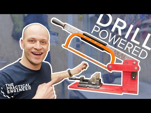 Cut metal easily! - DIY Power hacksaw