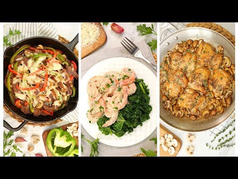 3 Low Carb Dinner Recipes | Quick + Easy Weeknight Dinner Ideas