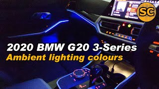 What colors BMW 3 series ambient lights (G20)