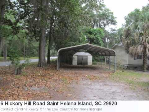 Real Estate In Saint Helena Island, Sc- 6 Hickory Hill Road