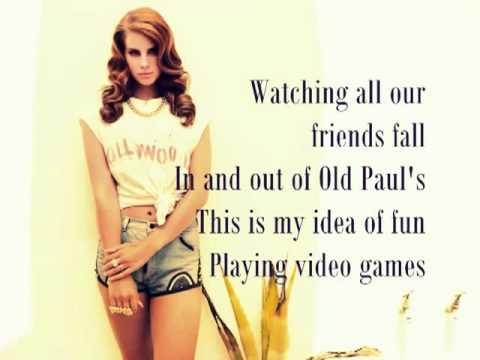 Official Lana Del Rey - Videogames LYRICS ON SCREEN [HD]