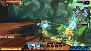 Dungeon Defenders 2 - Hard Incursion - Monk + Huntress strategy