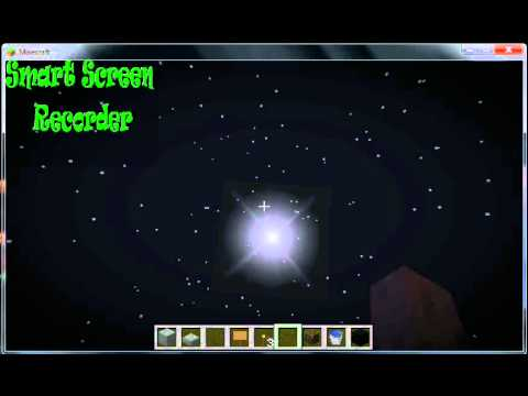 Outer space in minecraft! OMG!