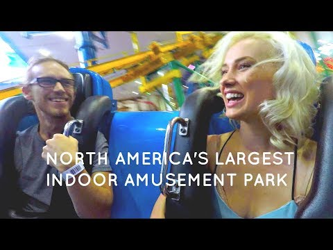 Travel Vlog X - LARGEST INDOOR AMUSEMENT PARK IN NORTH AMERICA!