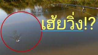 #ตกเบ็ดปลาบนสะพานเจออะไรถึงต้องวิ่งกันขนาดนี้!?ชิงหลิว
