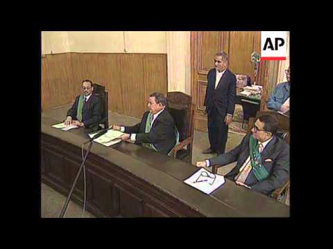 EGYPT: CAIRO: ISRAELI ARAB & EGYPTIAN ACCUSED OF SPYING GO ON TRIAL