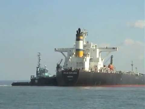 Oil Tanker Atlas Explorer Berths at Fawley