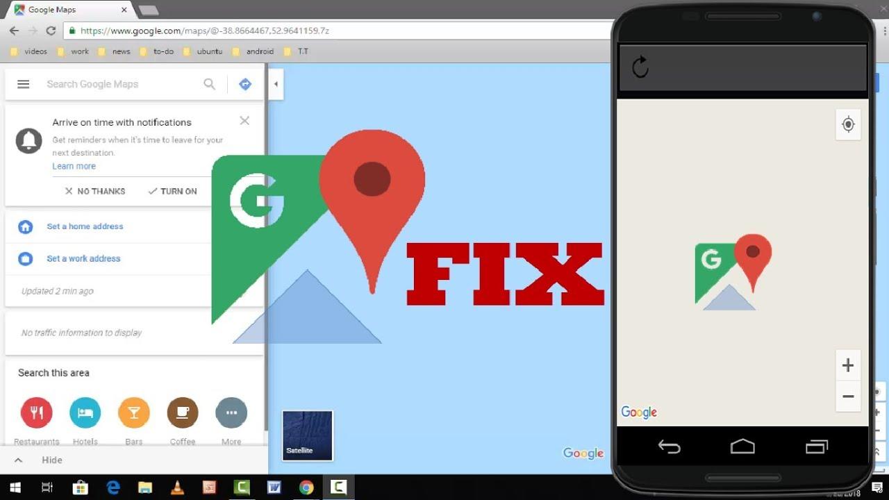Google Chrome Maps on